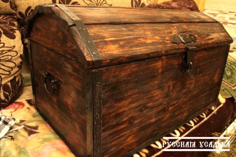 Старинный деревянный сундук своими руками 23